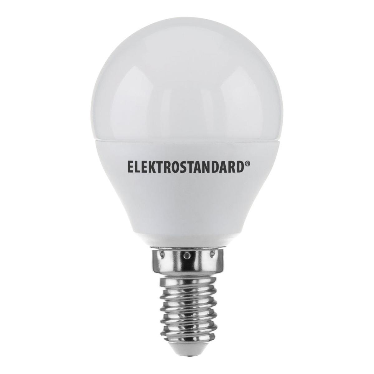 лампа светодиодная e14 7w 3300k шар матовый mini 4690389085376 Лампочка Elektrostandard светодиодная Mini Classic LED 7W 3300K E14 матовое стекло, Теплый свет 7 Вт, Светодиодная