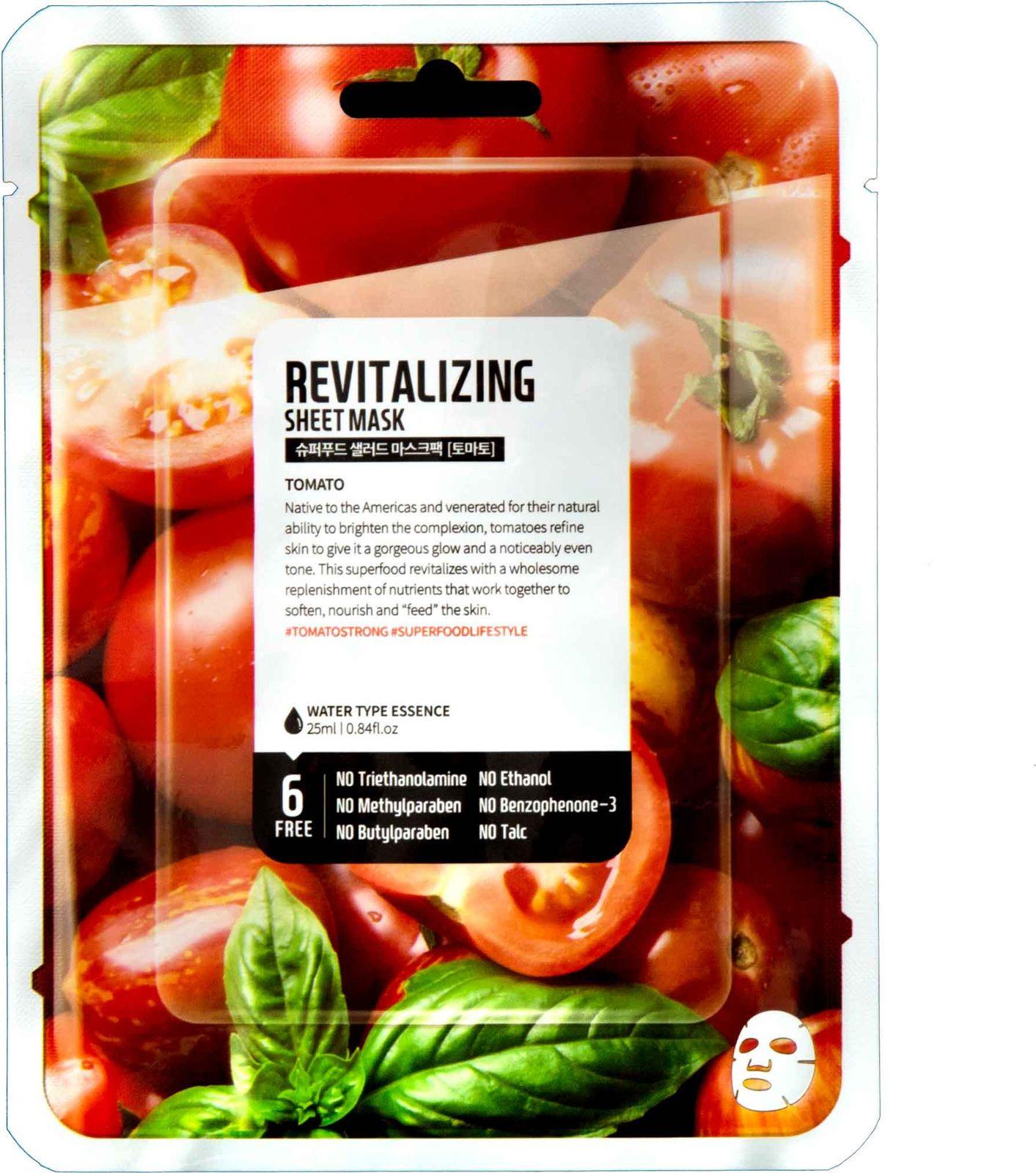 Тканевая маска Superfood Salad For Skin Томат ревитализация