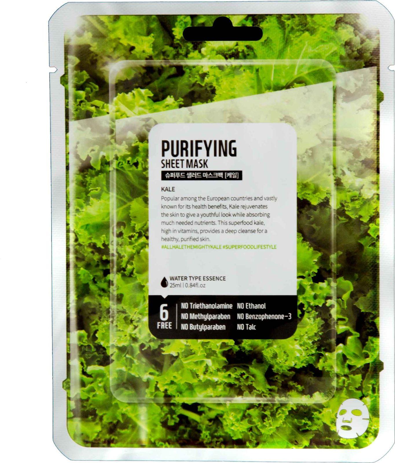 Тканевая маска Superfood Salad For Skin Кейл очищение