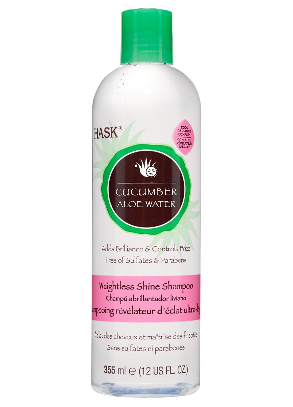 Шампунь для блеска волос Hask Cucumber с экстрактом огурца и алоэ, 355 мл