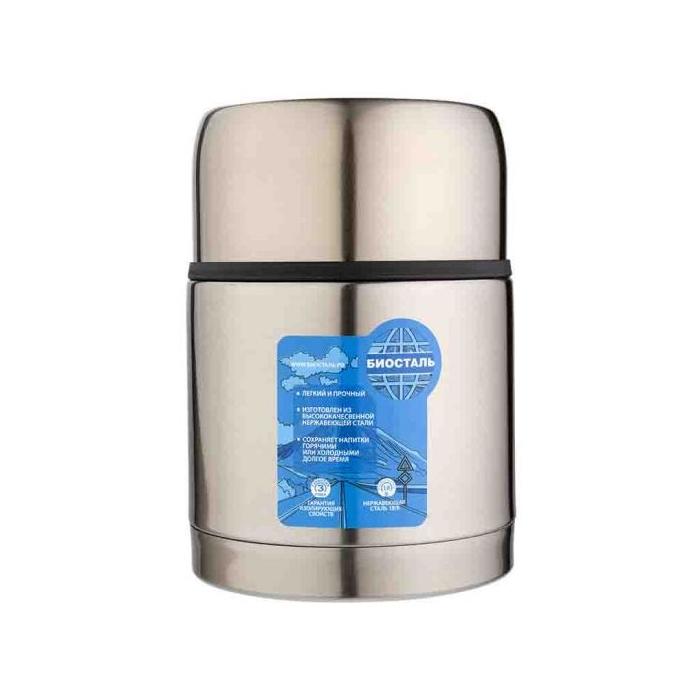 Термос BIOSTAL-АВТО с широким горлом, суповой, термочехлом, 0,7 л.