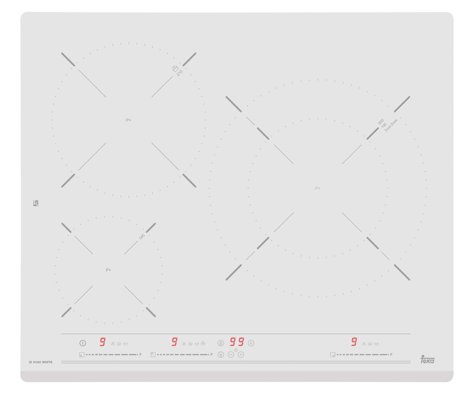 Варочная панель TEKA IZ 6320 WHITE индукционная белая Тека