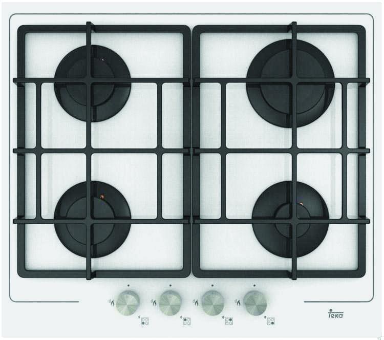 Варочная панель TEKA PAC 60 4G AI AL CI WHITE (RU) белая газ на стекле со сдвоенными решётками система автомат контроля загазованности сакз мк 1 1а dn 20 нд природный газ бытовая