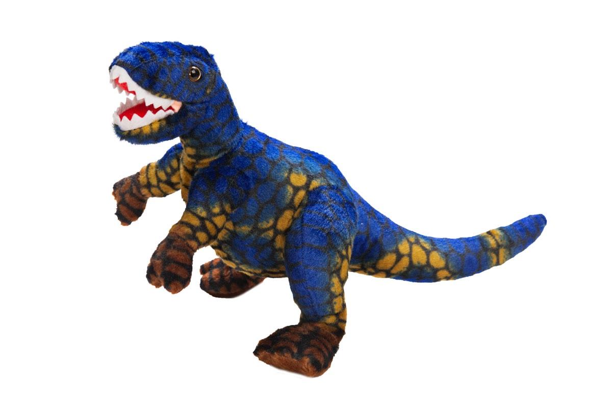 Мягкая игрушка Динозавр Тиранозавр, синий