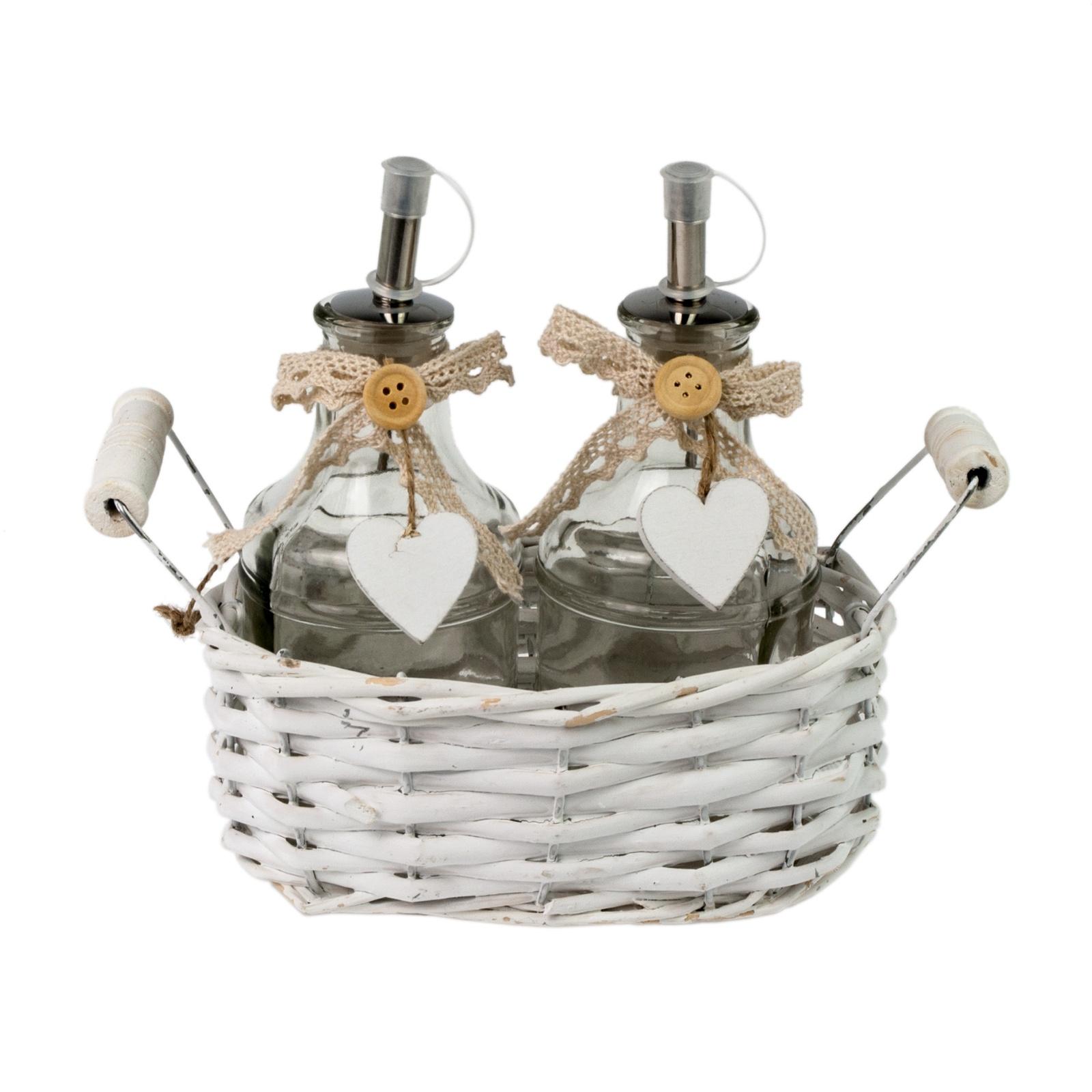 Набор ёмкостей в корзине Прованс набор из 2 х лотков прованс ejiry