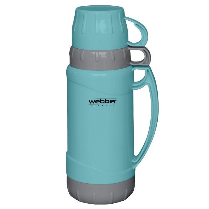 Фото - Термос Webber 1,8 литра бирюзовый с серым [супермаркет] jingdong геб scybe фил приблизительно круглая чашка установлена в вертикальном положении стеклянной чашки 290мла 6 z