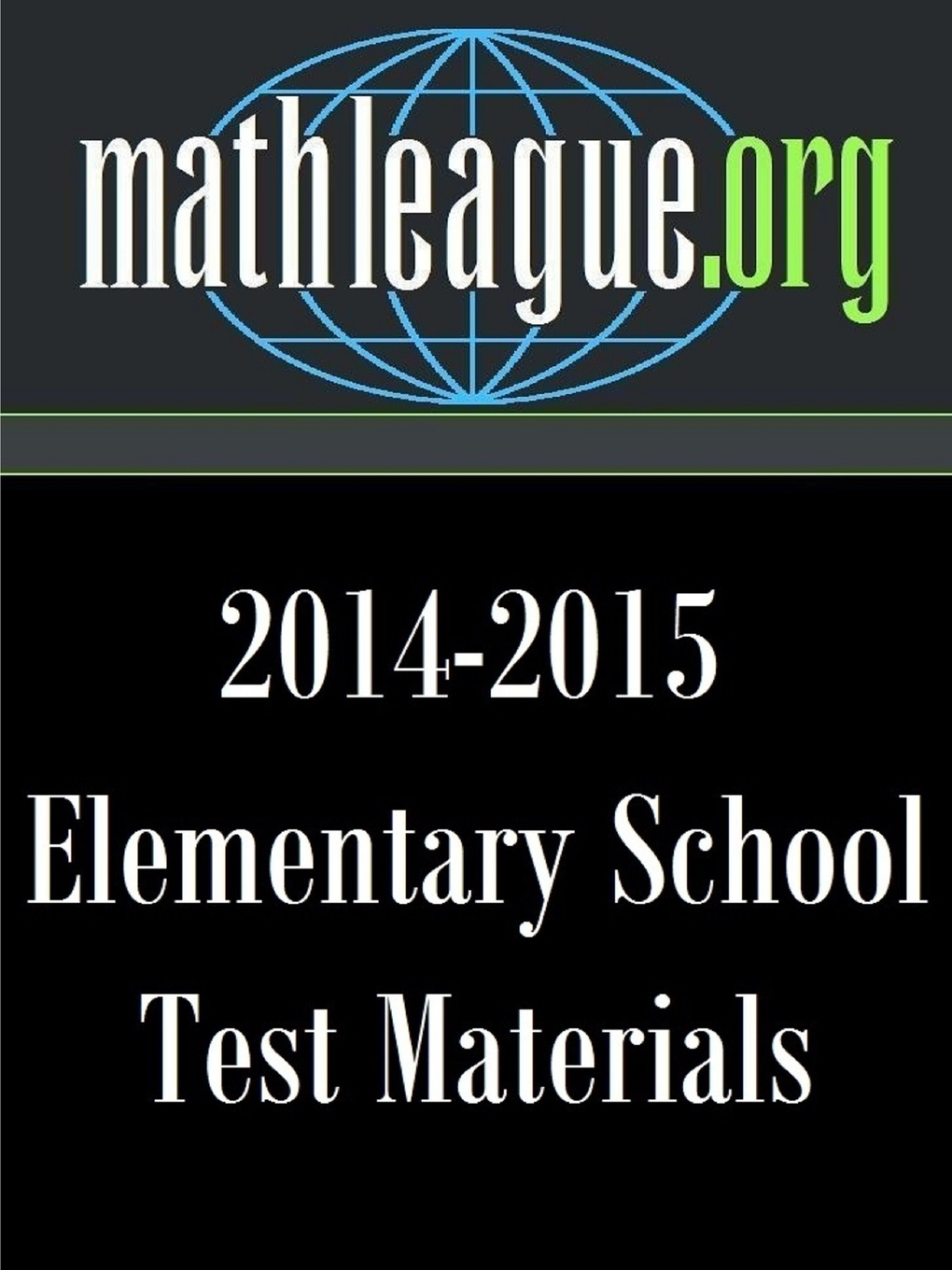 Tim Sanders Elementary School Test Materials 2014-2015 test
