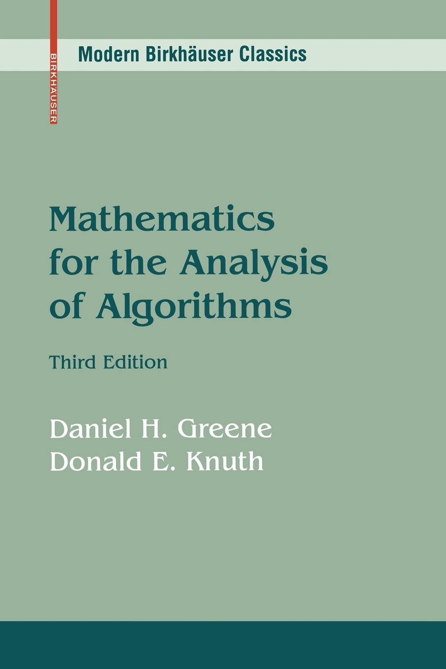 Daniel H. Greene, Donald E. Knuth Mathematics for the Analysis of Algorithms analysis of nifedipine microsphere
