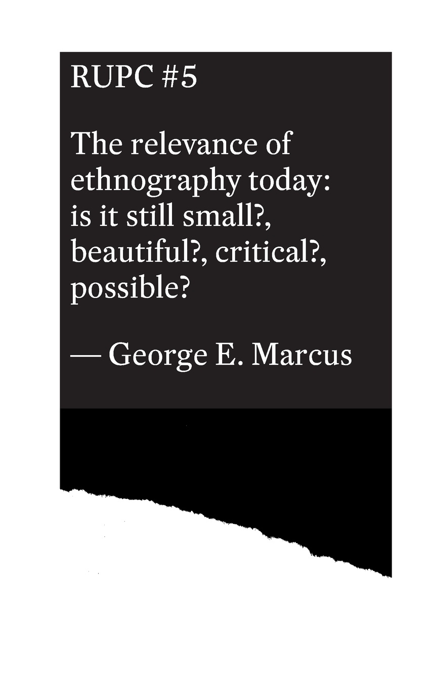 George E. Marcus The relevance of ethnography today george e marcus the relevance of ethnography today