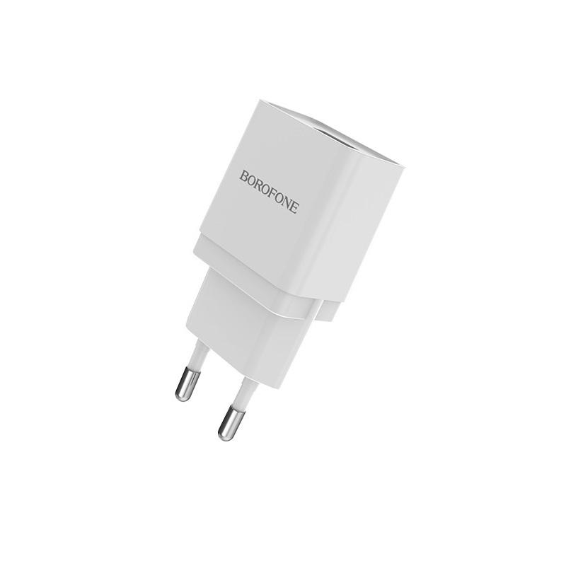 Сетевое зарядное устройство Borofone BA19A Nimble single port charger (EU) White цена 2017