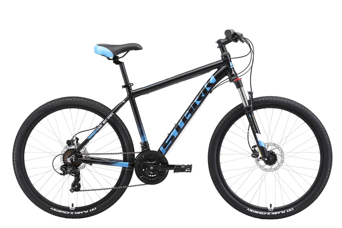 цены на Велосипед STARK Indy 26.2 HD 2019 18 чёрный/синий/голубой  в интернет-магазинах