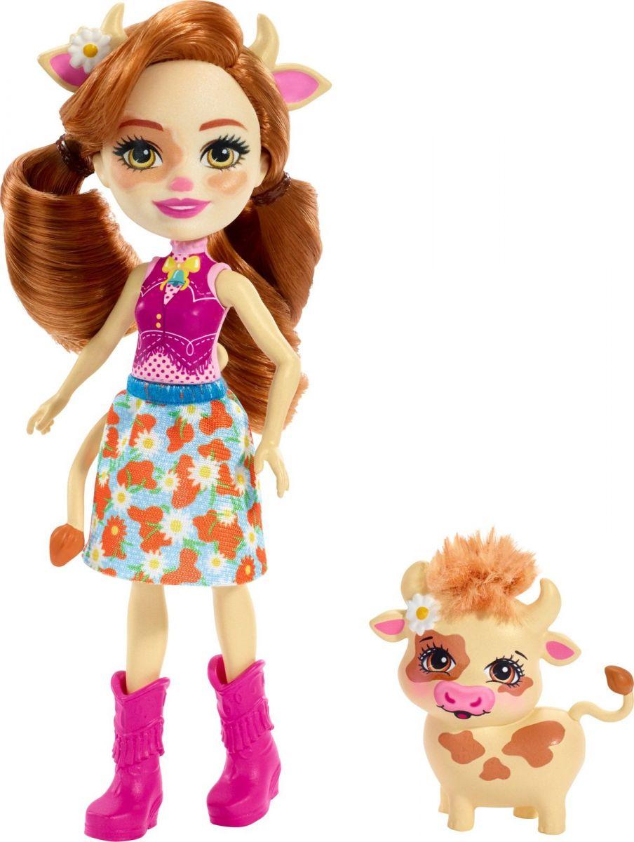 Кукла с питомцем Коровка Кейли (Mattel Enchantimals FXM77) кукла enchantimals с любимой зверюшкой dvh87 fnh22 кейли коровка