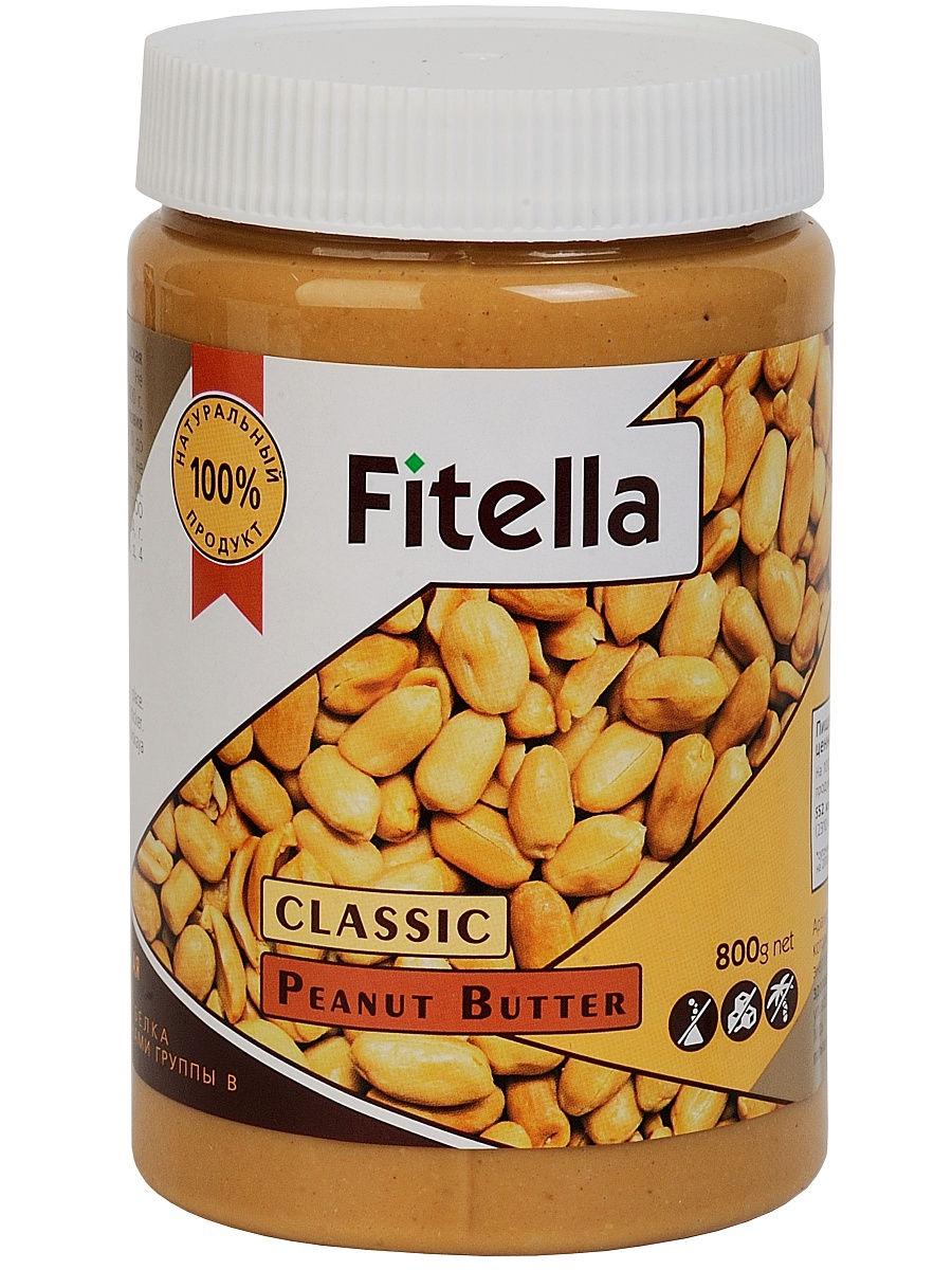 """Арахисовая паста """"Fitella"""" классическая, Vitmax nutrition, 800 гр"""