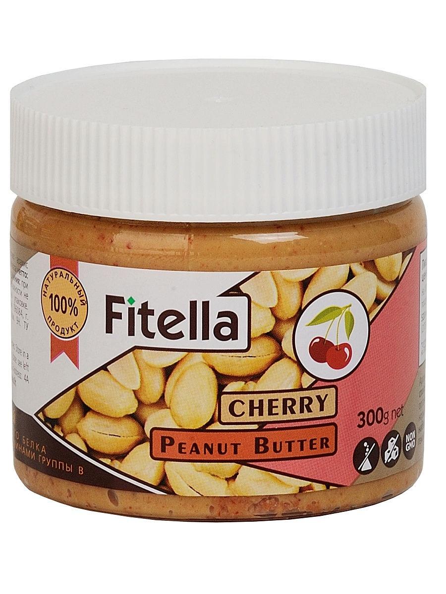 Арахисовая паста Fitella с вишней, Vitmax nutrition, 300 гр