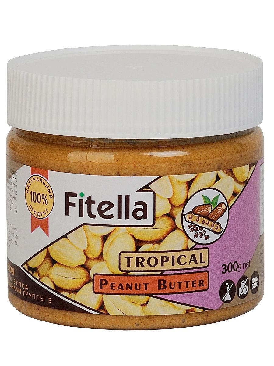 Арахисовая паста Fitella тропическая, Vitmax nutrition, 300 гр