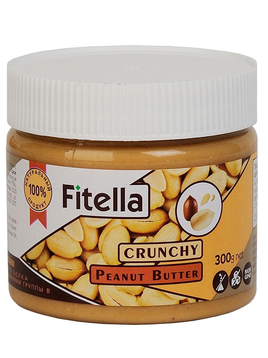 Арахисовая паста Fitella с кусочками, Vitmax nutrition, 300 гр