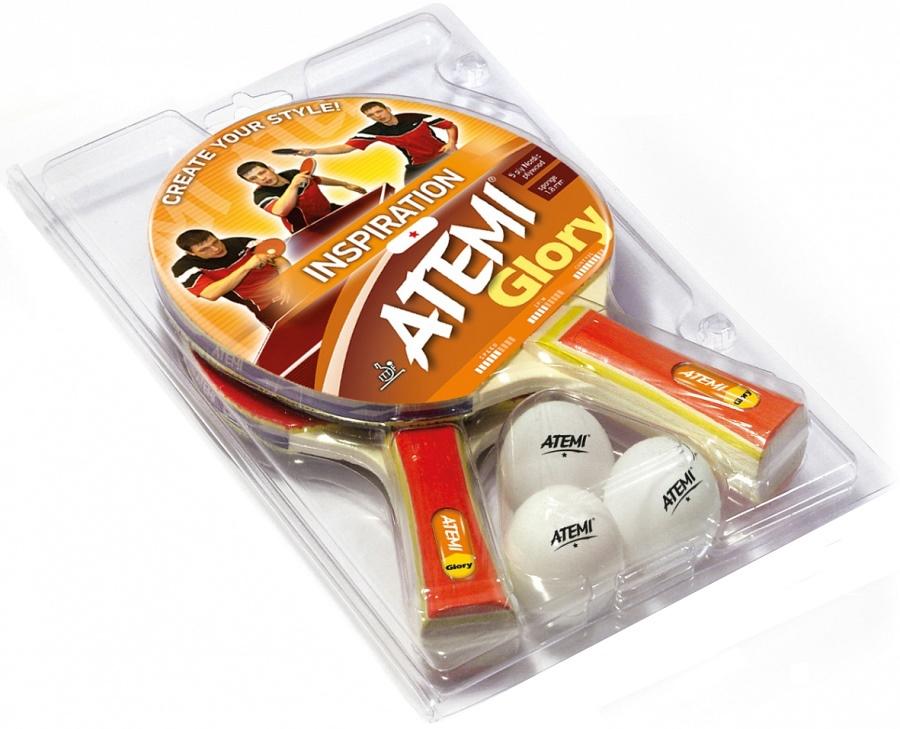 Набор для настольного тенниса Atemi Glory, 5 предметов мячи для настольного тенниса atemi atb102