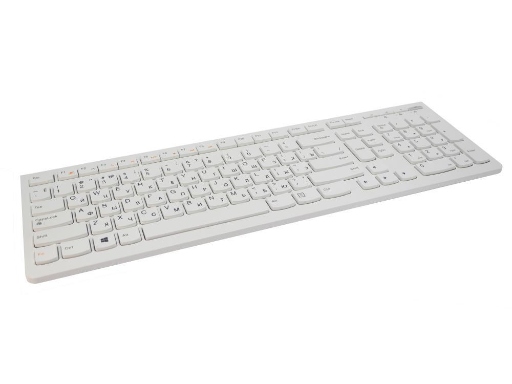 Клавиатура Lenovo Slim White USB LHX-EKB-10YA, белая