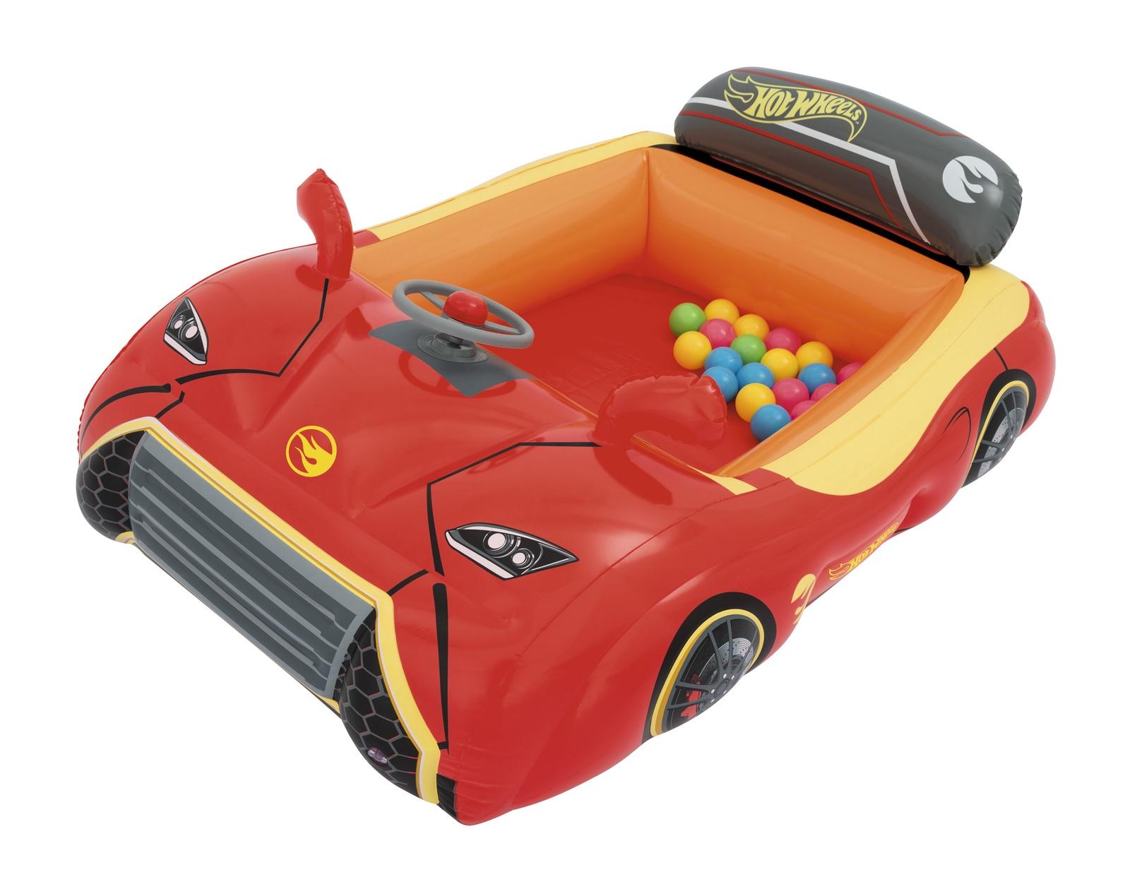 Игровой центр Машина Hot Wheels, 25 шариков, 135*99*43см, Bestway 93404