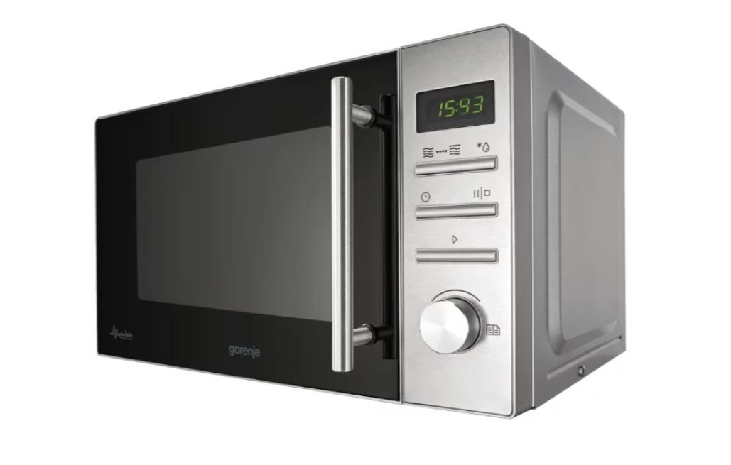 Микроволновая Печь Gorenje, 20л, 800Вт, нержавеющая сталь, MMO20DGEII