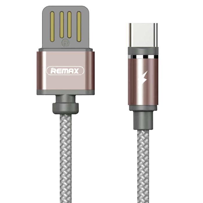 Фото - Кабель магнитный USB Type-C Remax Gravity series RC-095a - Bronze автодержатель remax rc fc1 с кабелем type c black