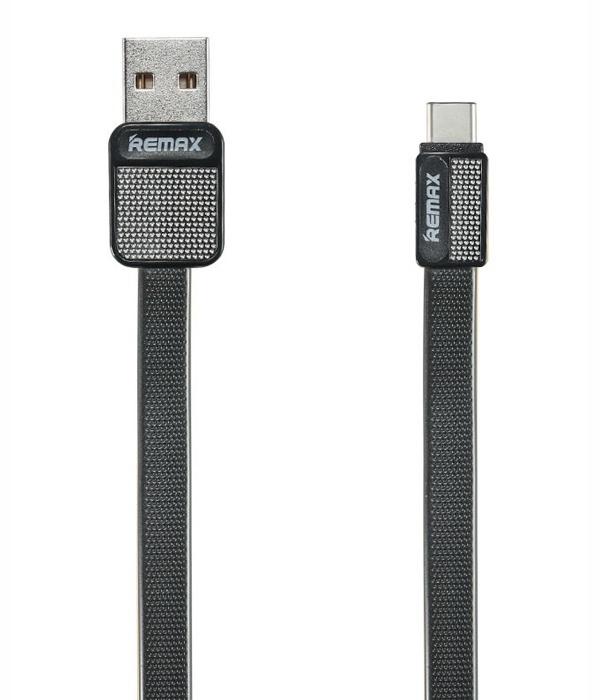 Фото - Кабель USB Type-C 1м Remax RC-044a - Черный автодержатель remax rc fc1 с кабелем type c black