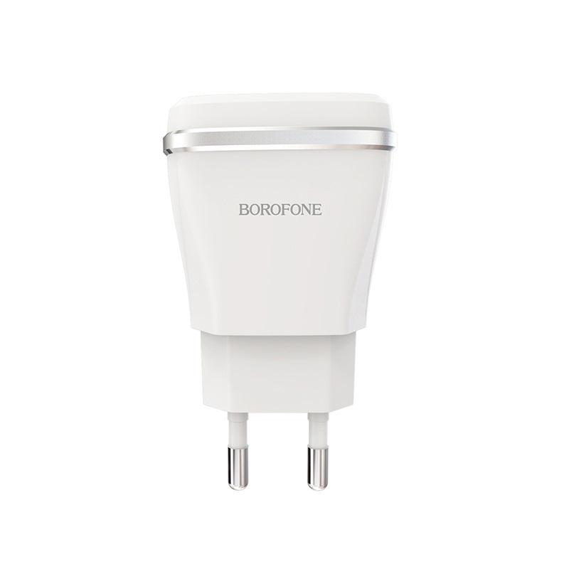 Сетевое зарядное устройство Borofone BA1A Joyplug single port USB charger (EU) White цена 2017