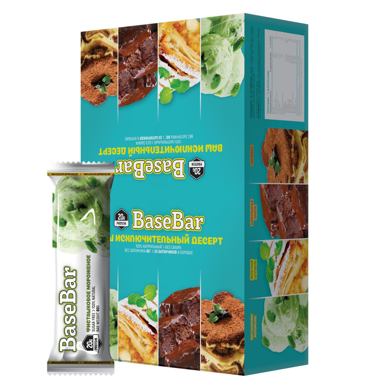 Батончик протеиновый Base Bar Фисташковое мороженое, 20 шт по 60 г