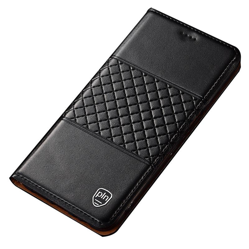 Чехол-книжка MyPads для Huawei Honor 8A/Huawei Y6 (2019)/ Honor 8A Pro/ Y6 Prime 2019 из натуральной кожи буйвола с элегантной стеганой прошивкой премиум-класса и магнитной крышкой черный