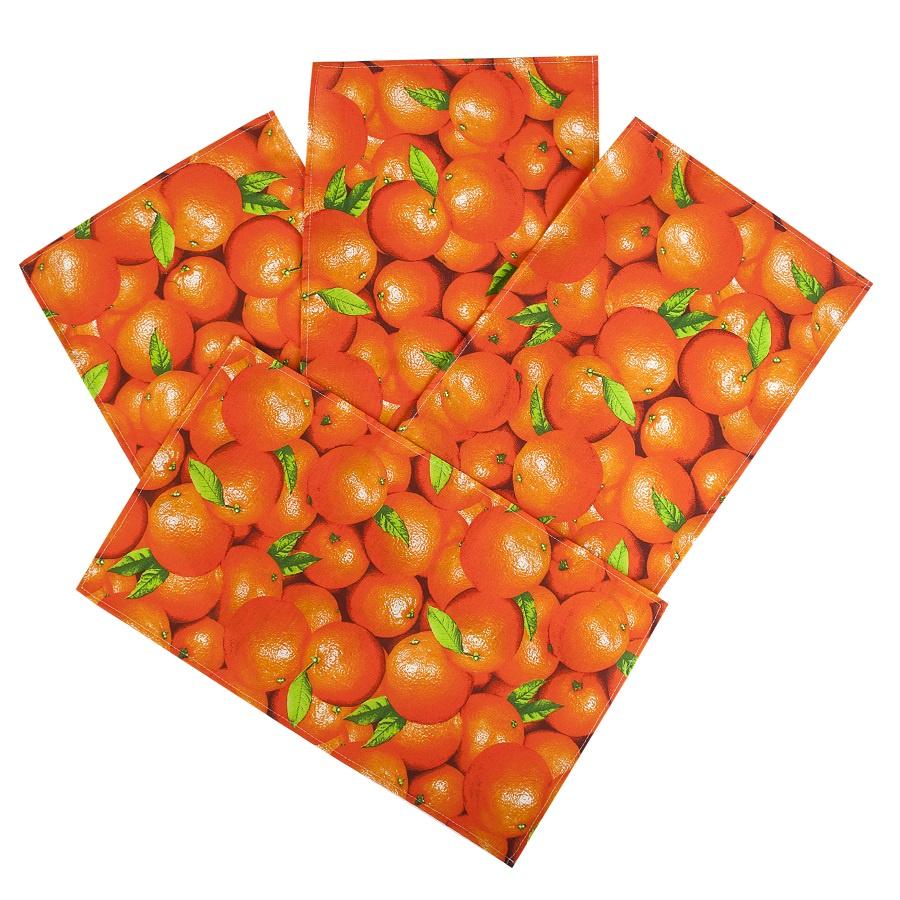 Набор полотенец Ассорти ТК Традиция Апельсины 35х60 см - 4 шт
