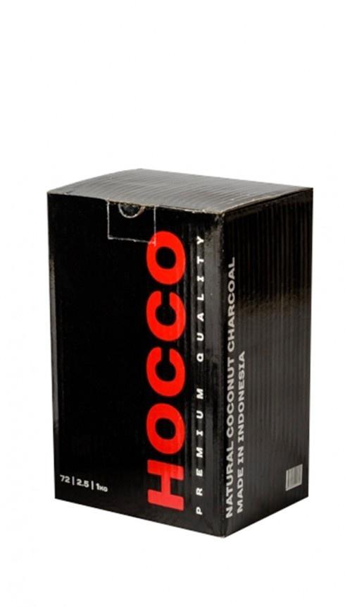 Уголь кокосовый HOCCO, 72 кубика, 1 кг