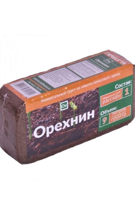Субстрат кокосовый Орехнин в брикетах 9л