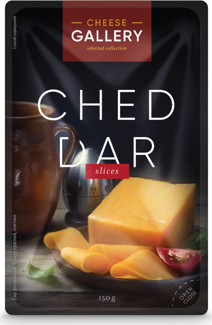 все цены на Cheese Gallery Сыр Чеддер красный, 45%, нарезка, 150 г онлайн