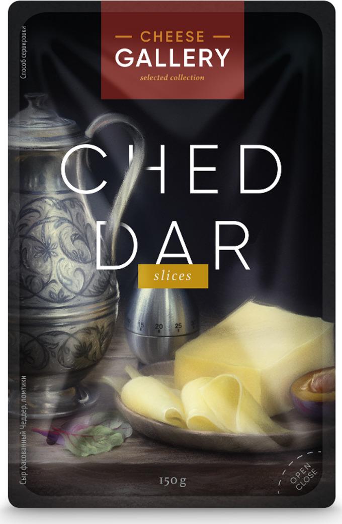 все цены на Cheese Gallery Сыр Чеддер, 50%, нарезка, 150 г онлайн