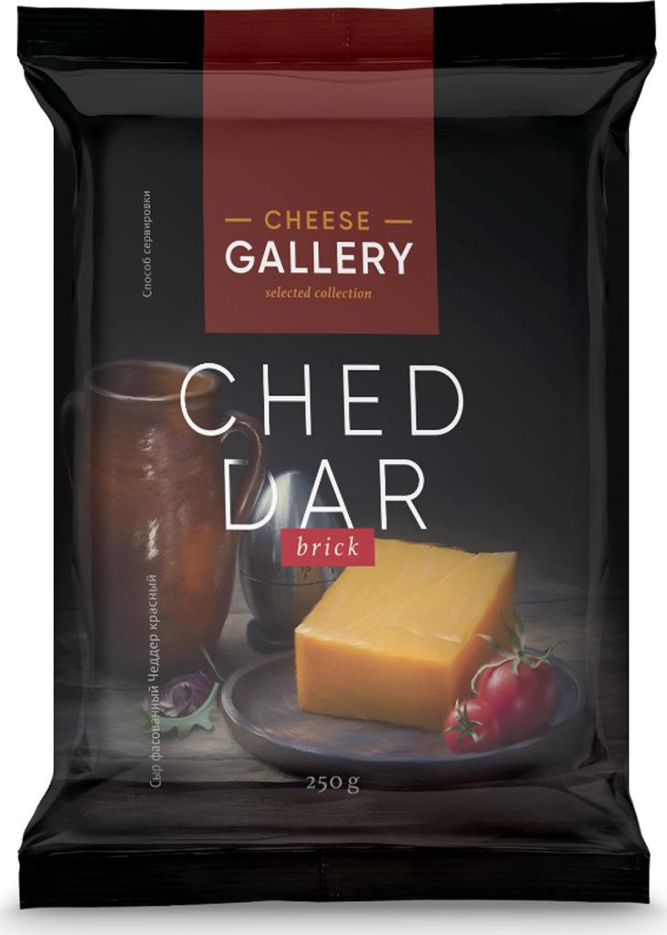 все цены на Cheese Gallery Сыр Чеддер красный, 45%, 250 г онлайн