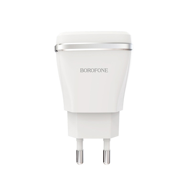 Сетевое зарядное устройство Borofone BA1A Joyplug one port USB charger set Micro-USB (EU) White