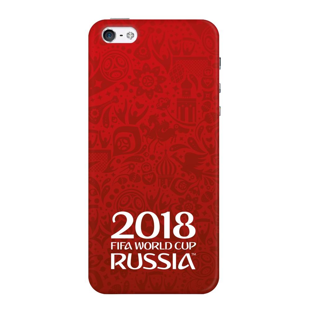 Чехол TPU для Apple iPhone 5/5S/SE, FIFA Official Logotype red, Deppa цена и фото