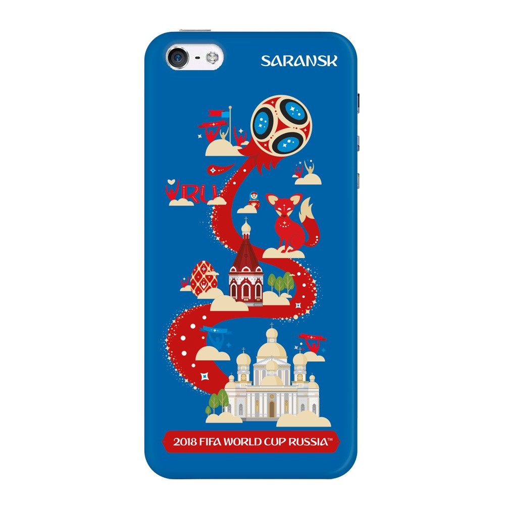 Чехол TPU для Apple iPhone 5/5S/SE, FIFA Saransk, Deppa чехол fifa 2018 official pattern red для iphone 5 5s se