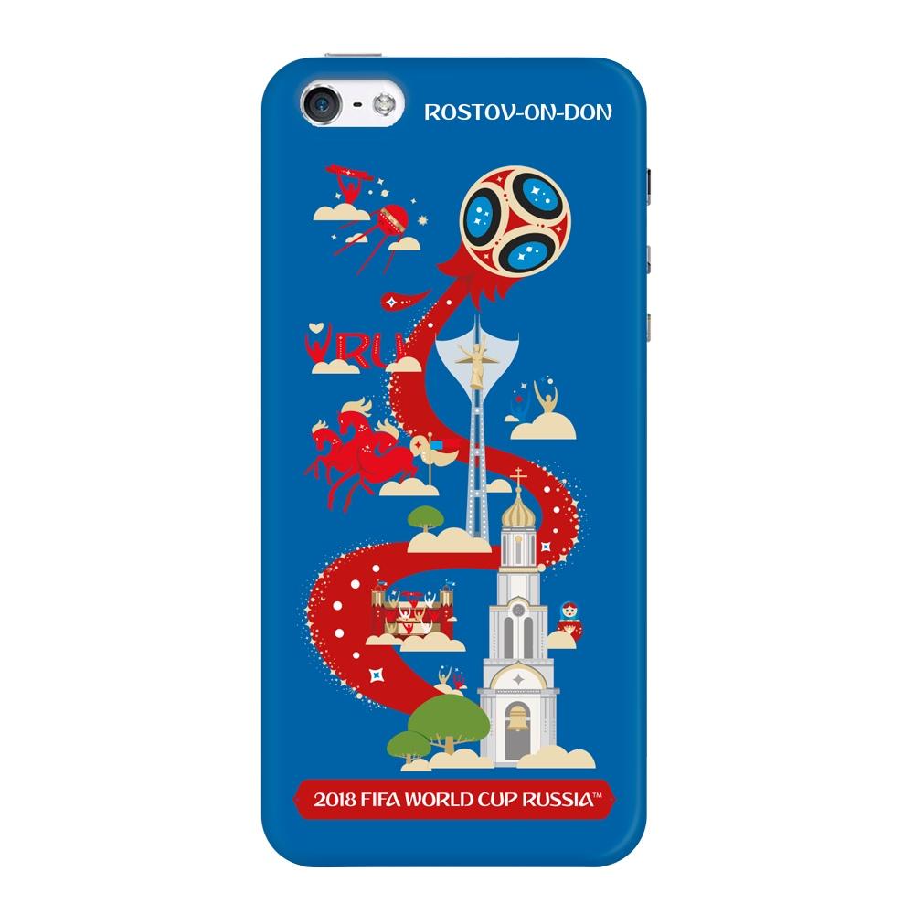 Чехол TPU для Apple iPhone 5/5S/SE, FIFA Rostov-on-Don, Deppa чехол fifa 2018 official pattern red для iphone 5 5s se