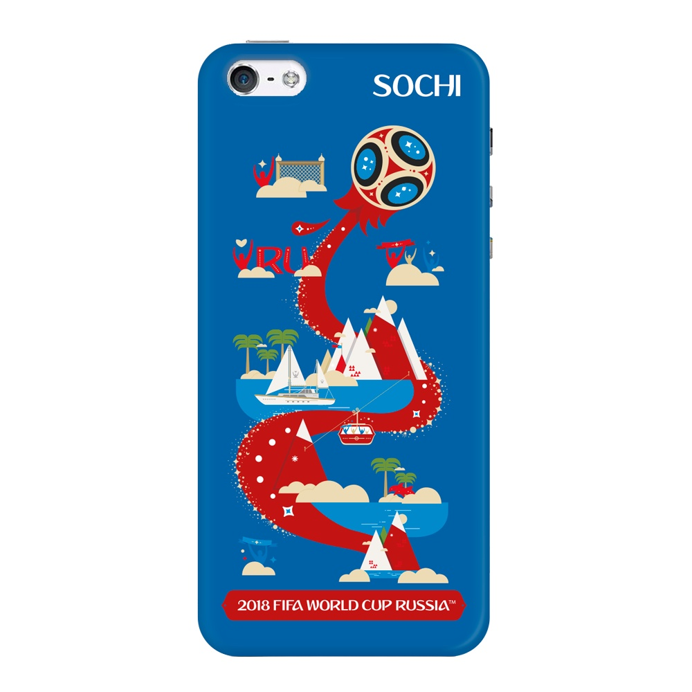 Чехол TPU для Apple iPhone 5/5S/SE, FIFA Sochi, Deppa чехол fifa 2018 official pattern red для iphone 5 5s se