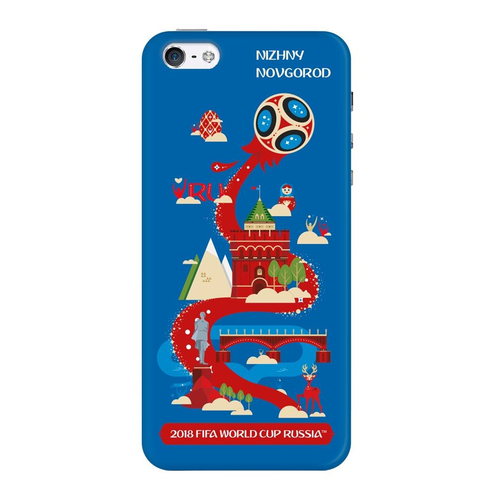 Чехол TPU для Apple iPhone 5/5S/SE, FIFA Nizhny Novgorod, Deppa чехол fifa 2018 official pattern red для iphone 5 5s se
