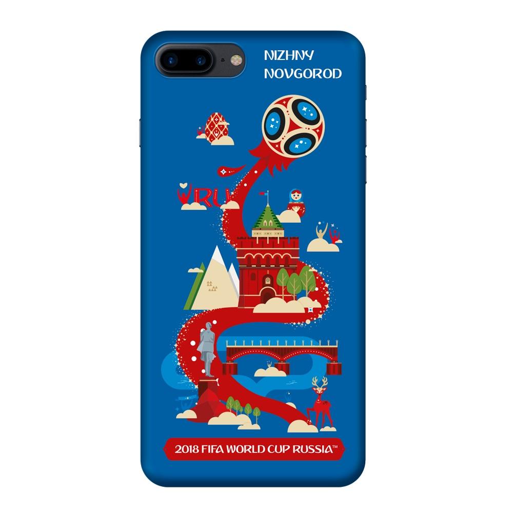 Чехол TPU для Apple iPhone 7/8 Plus, FIFA Nizhny Novgorod, Deppa клип кейс deppa fifa для apple iphone 8 plus 7 plus official emblem черный