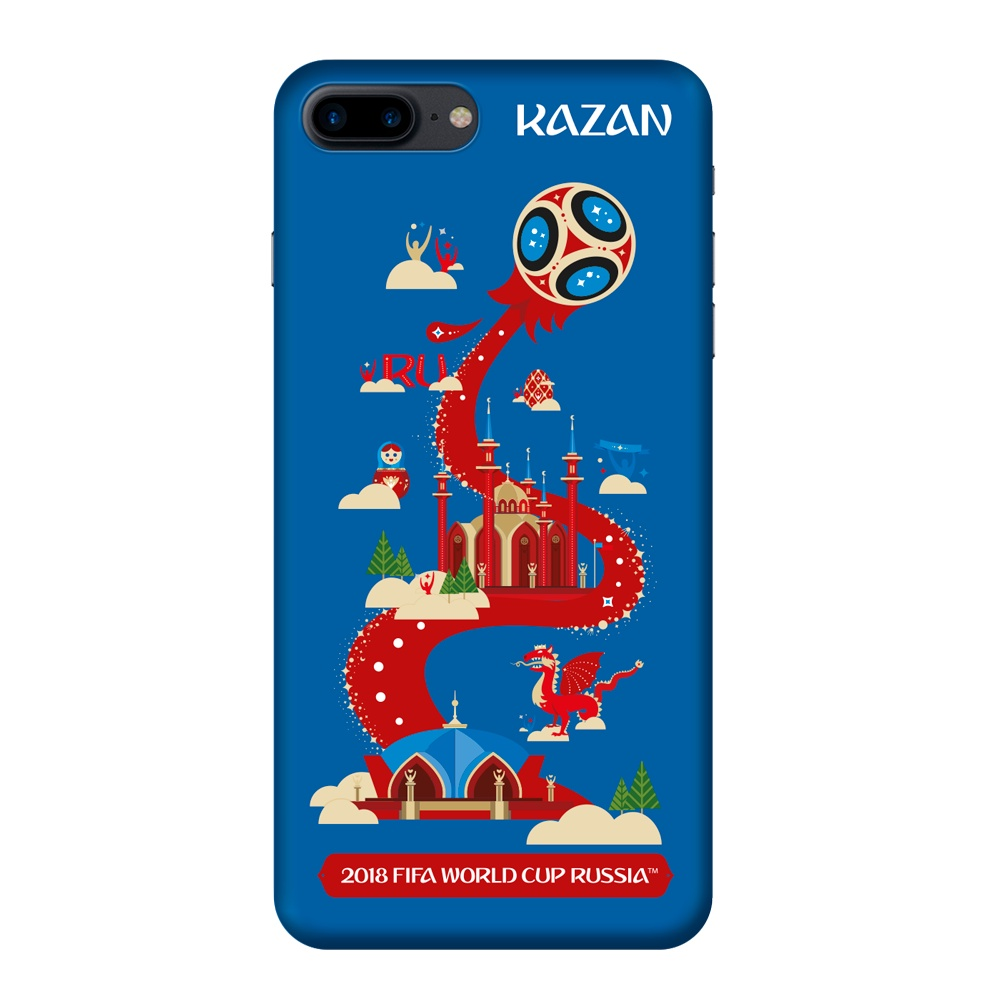 Чехол TPU для Apple iPhone 7/8 Plus, FIFA Kazan, Deppa клип кейс deppa fifa для apple iphone 8 plus 7 plus official emblem черный