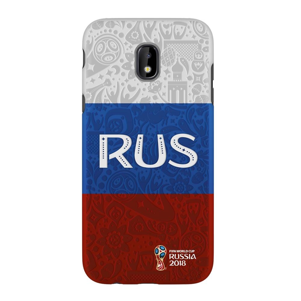 Чехол PC для Samsung Galaxy J3(2017), FIFA Flag Russia, Deppa samsung pc