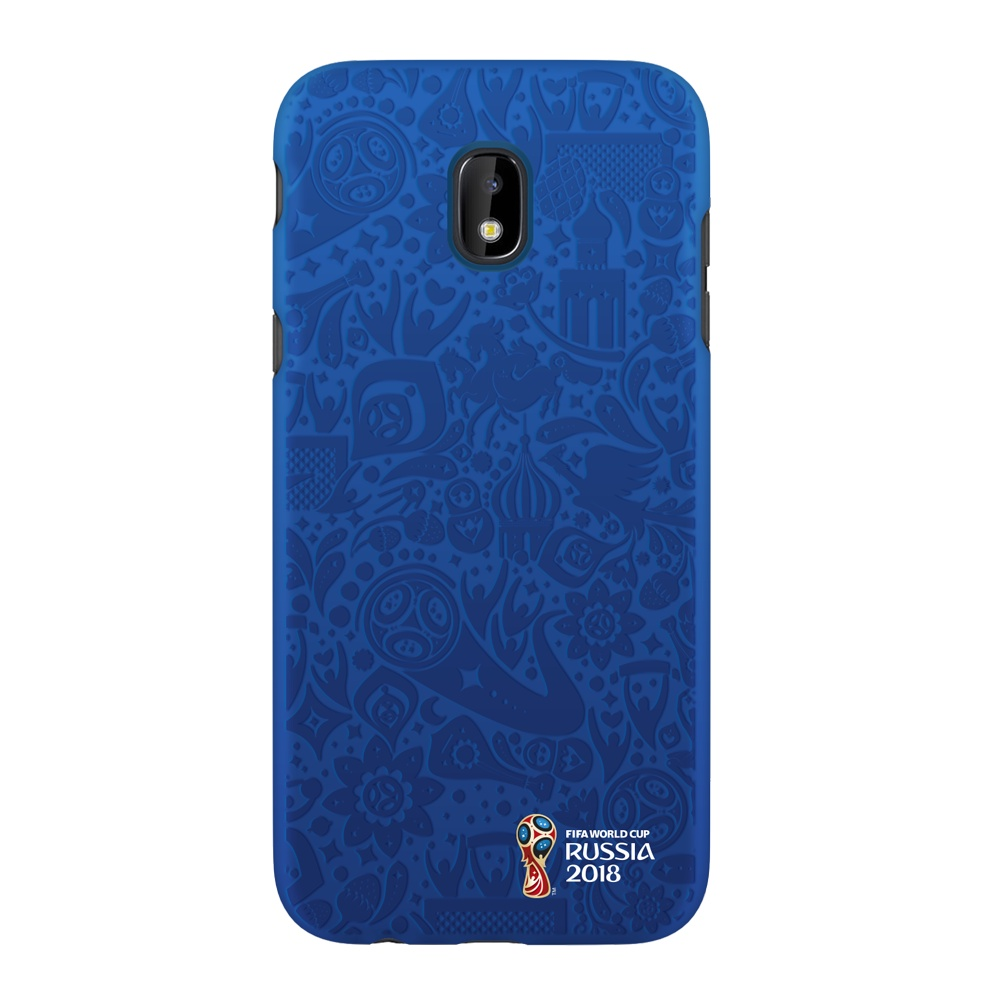 Чехол PC для Samsung Galaxy J3(2017), FIFA Official Pattern blue, Deppa чехол fifa 2018 official emblem white для samsung a5