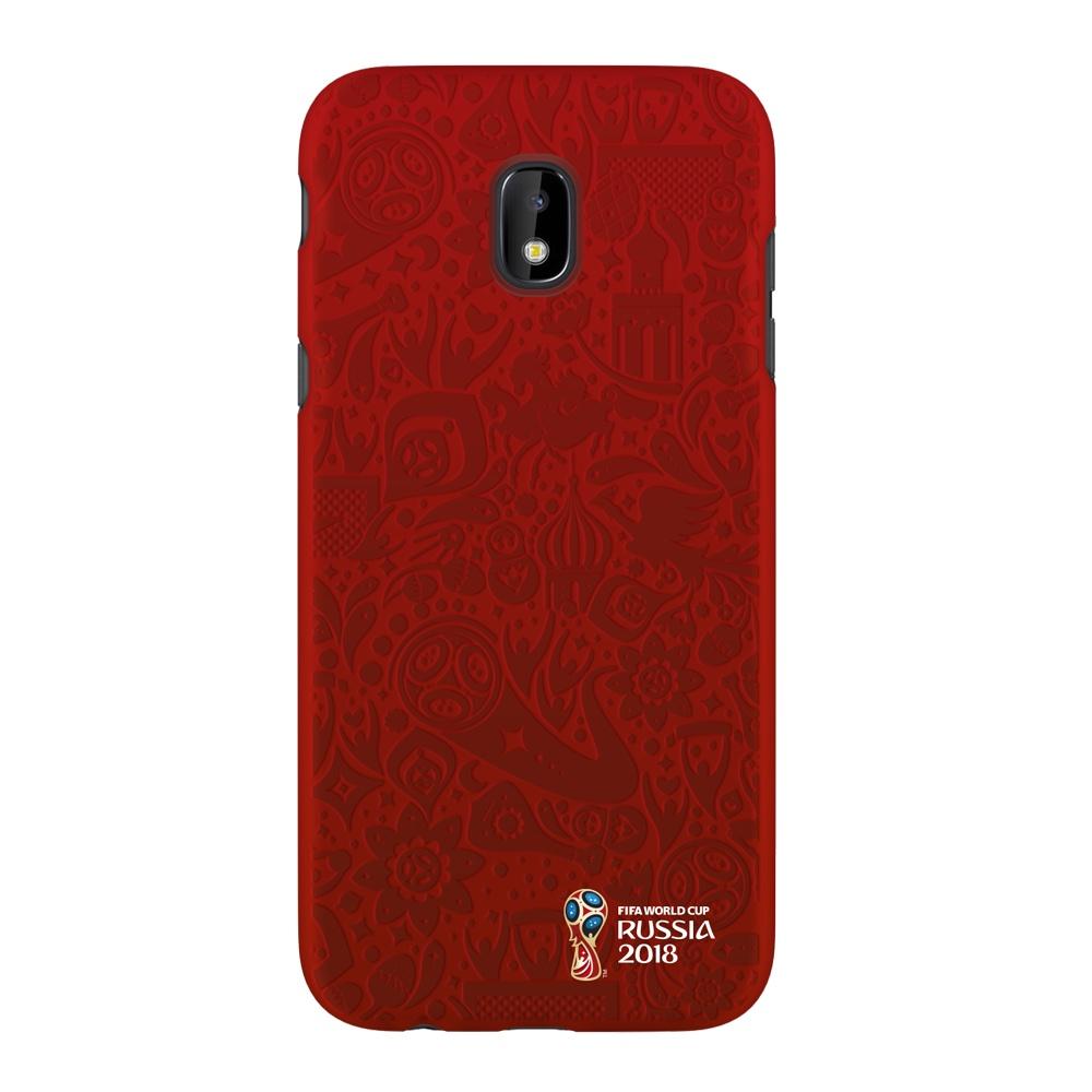 Чехол PC для Samsung Galaxy J3(2017), FIFA Official Pattern red, Deppa чехол fifa 2018 official pattern red для iphone 5 5s se