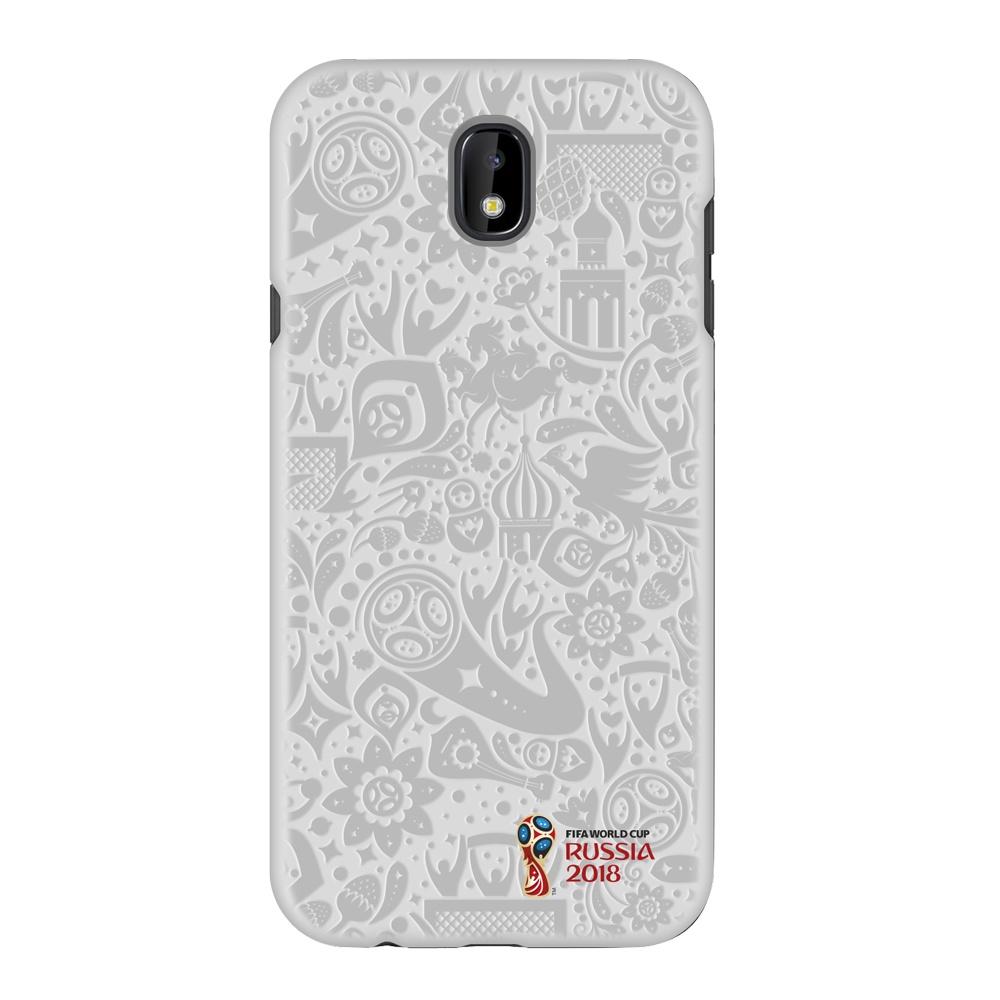 Чехол PC для Samsung Galaxy J7(2017), FIFA Official Pattern white, Deppa чехол fifa 2018 official emblem white для samsung a5