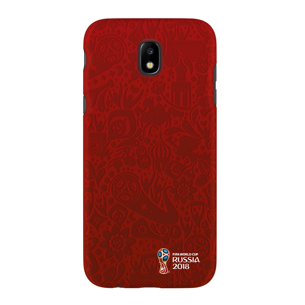 Чехол PC для Samsung Galaxy J5(2017), FIFA Official Pattern red, Deppa чехол fifa 2018 official pattern red для iphone 5 5s se