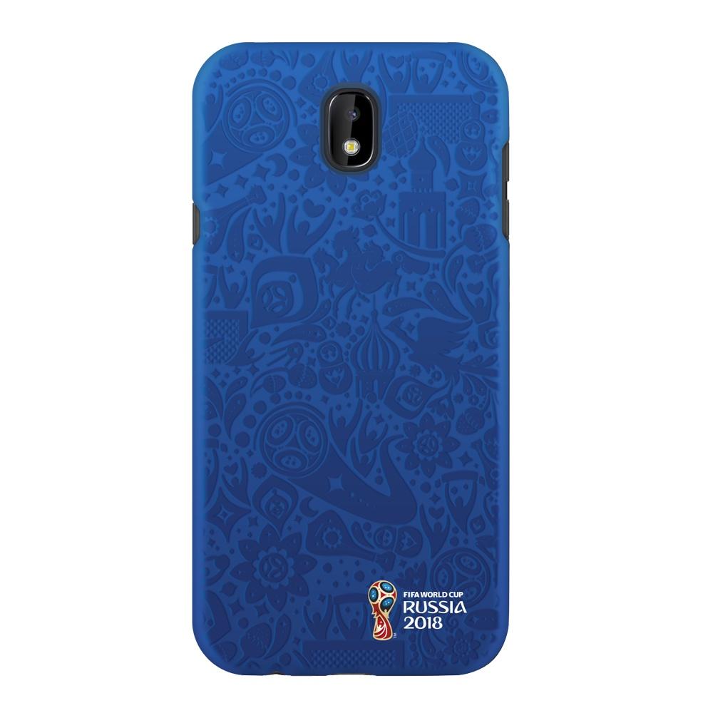 Чехол PC для Samsung Galaxy J7(2017), FIFA Official Pattern blue, Deppa samsung pc