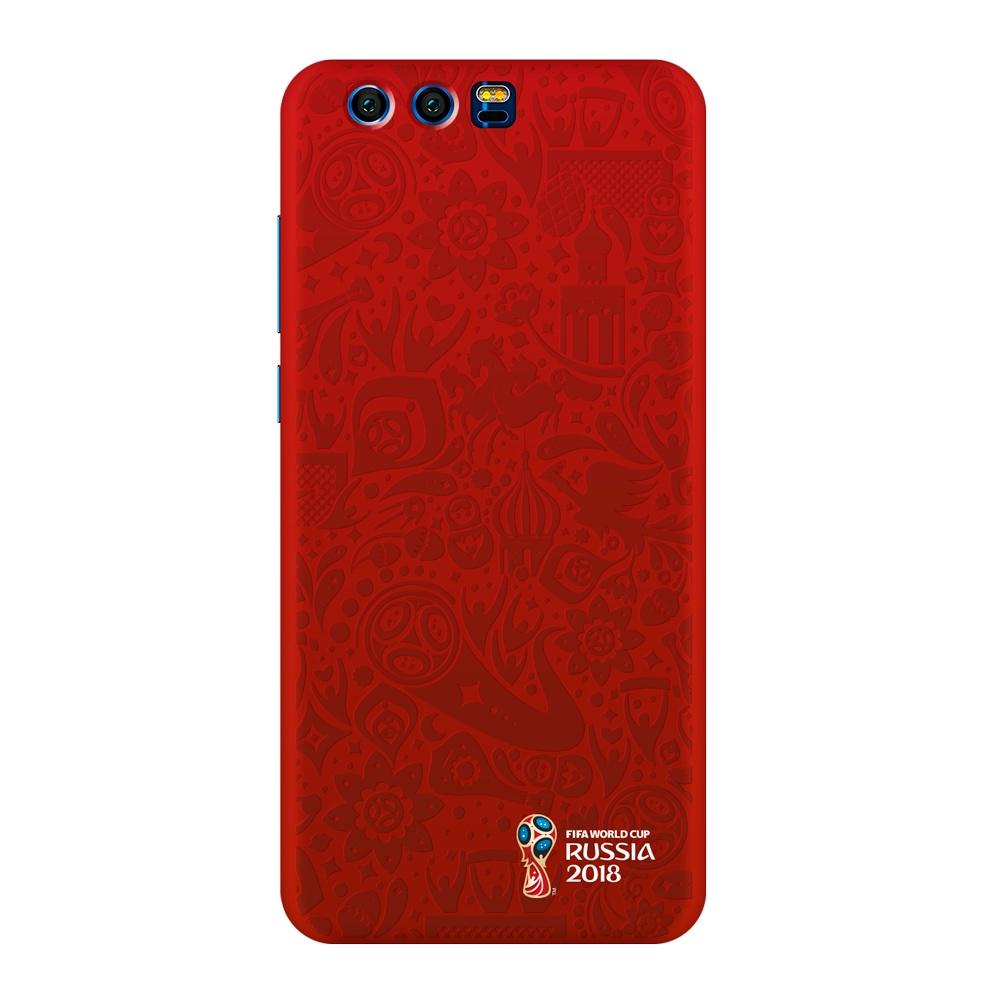 Чехол PC для Huawei Honor 9, FIFA Official Pattern red, Deppa чехол fifa 2018 official pattern red для iphone 5 5s se